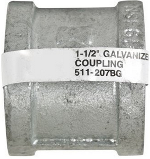 Coupling galvanized